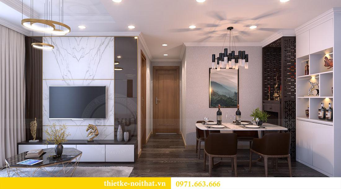 Thiết kế nội thất chung cư Gardenia căn 12A tòa A1 - Anh Hùng 3