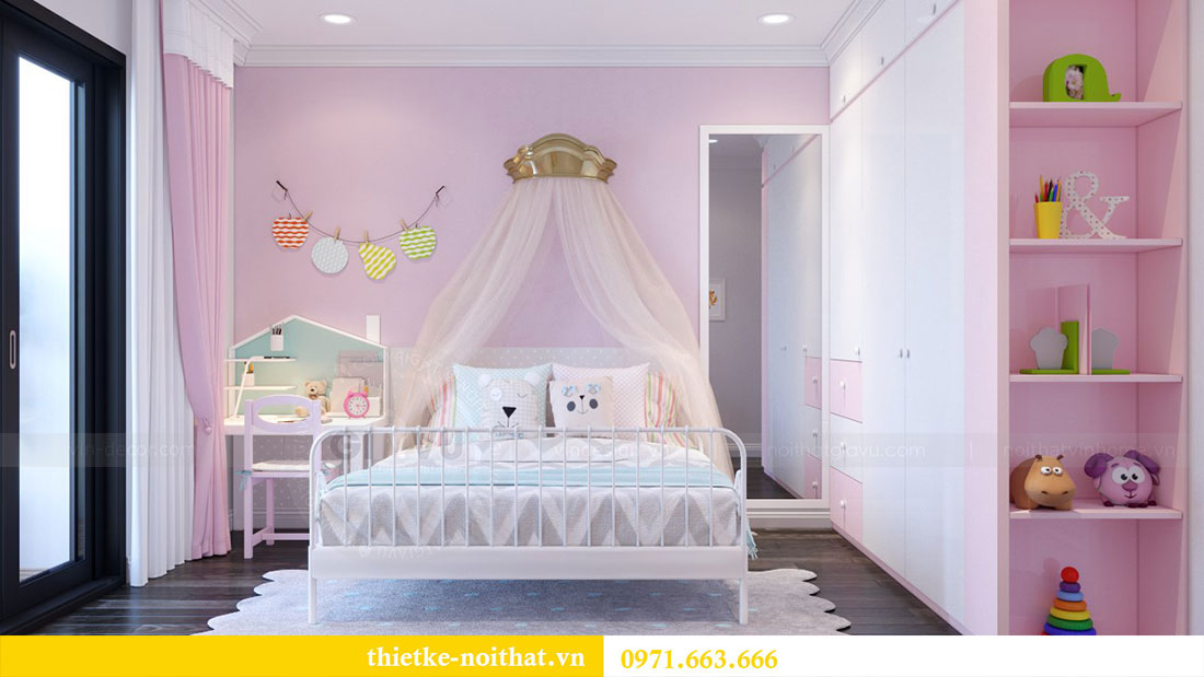 Thiết kế nội thất chung cư Goldsilk căn 04 nhà chị Thủy 12