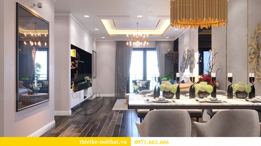Thiết kế nội thất chung cư Goldsilk căn 04 nhà chị Thủy 4