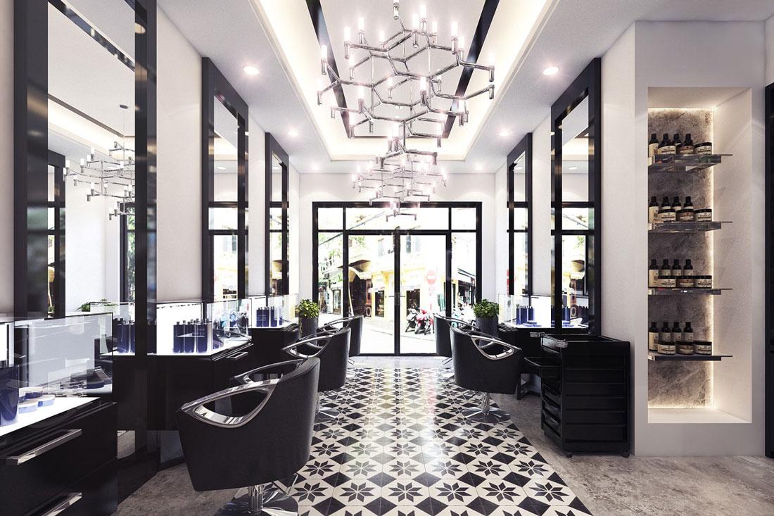 Thiết Kế Nội Thất Showroom Salon Tóc đẹp Tại Hà Nội – Mr.Andre