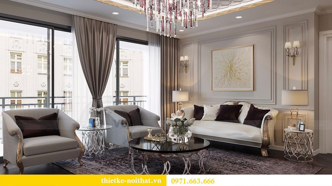 Thiết kế nội thất chung cư D Capitale căn 04 tòa C3 6