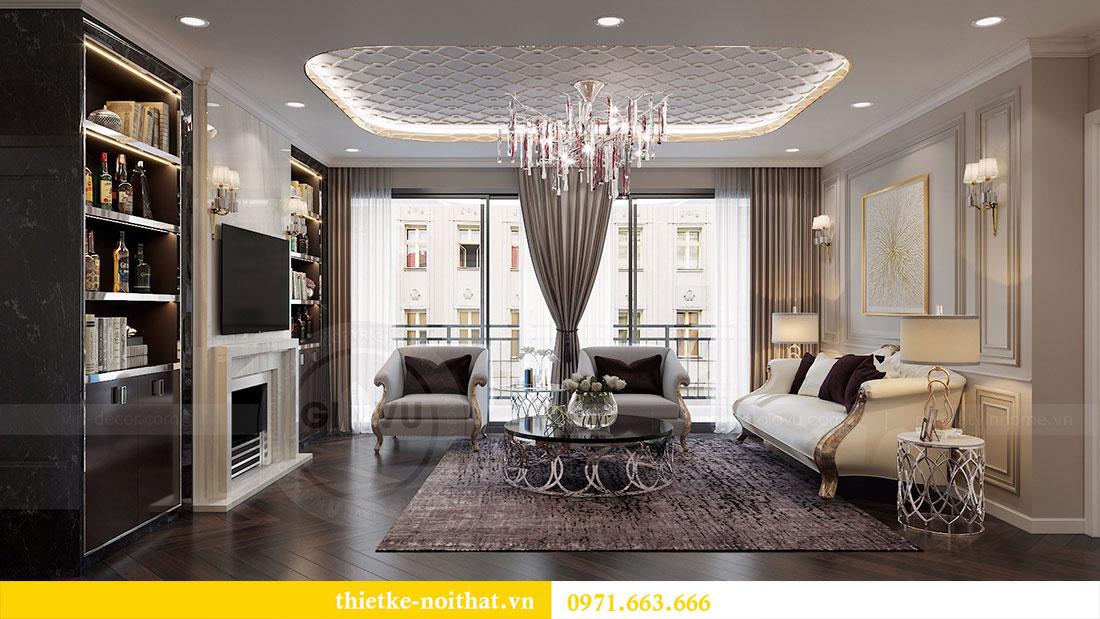 Thiết kế nội thất chung cư D Capitale căn 04 tòa C3 7