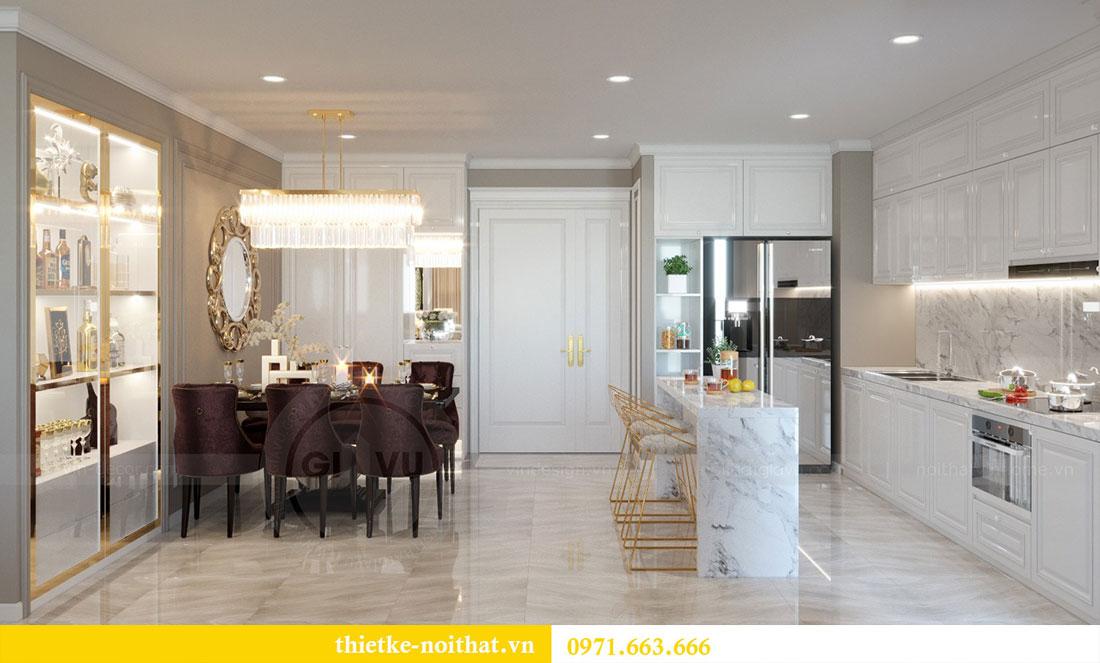 Thiết kế nội thất chung cư Metropolis căn 07 tòa M1 view 1