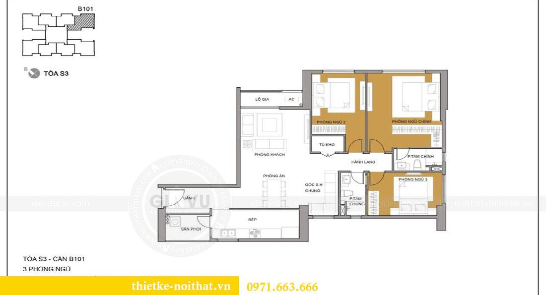 Mặt bằng thiết kế chung cư Seasons Avenue căn 01 tòa S3 - Anh Bách