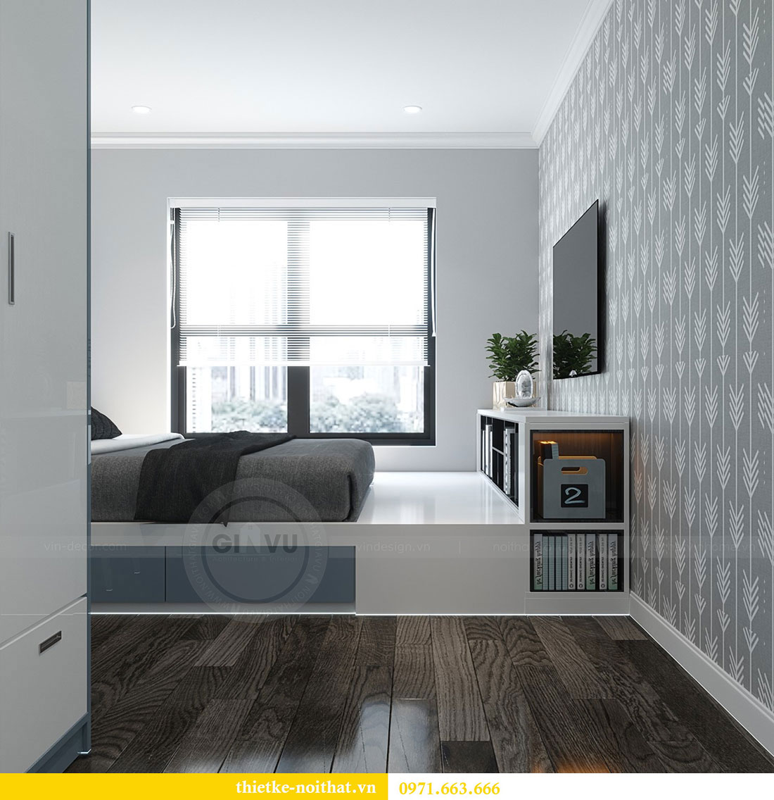 Thiết kế chung cư Vinhomes D Capitale căn 07 tòa C1 - Anh Khương 10