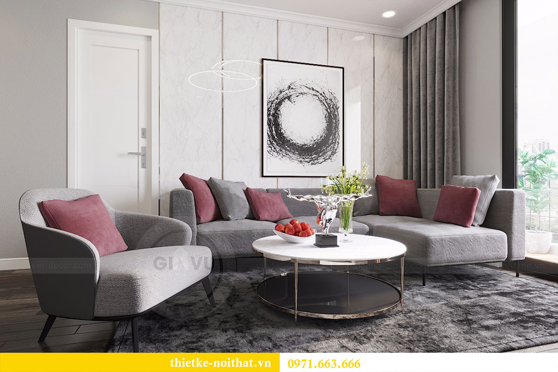 Thiết kế nội thất chung cư Seasons Avenue tòa S1 căn 04 - Chị Thanh 1