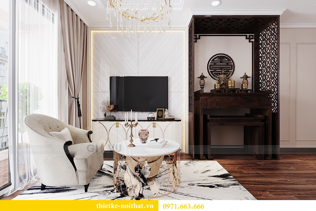 Thiết kế nội thất căn hộ Vinhomes Dcapitale căn 11 tòa C1 - Anh Khánh 4