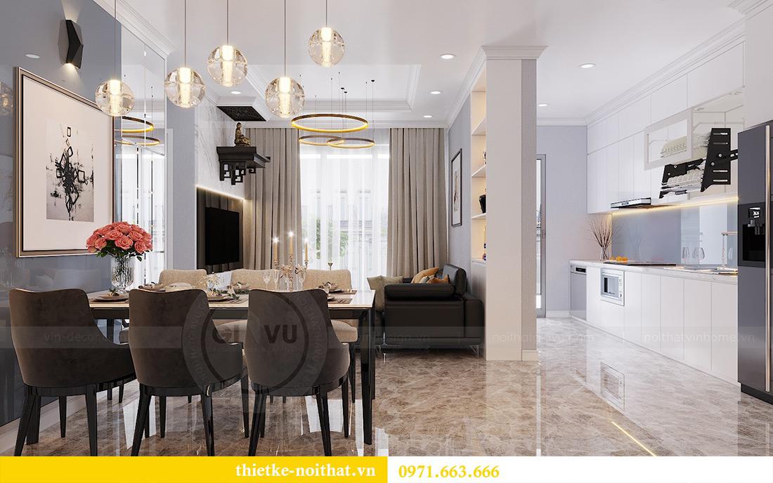 Thiết kế nội thất chung cư căn 3 ngủ tòa C1 08 Dcapitale nhà anh Thông 3