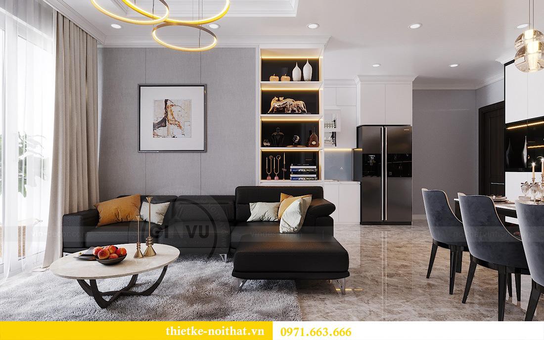 Thiết kế nội thất chung cư căn 3 ngủ tòa C1 08 Dcapitale nhà anh Thông 4