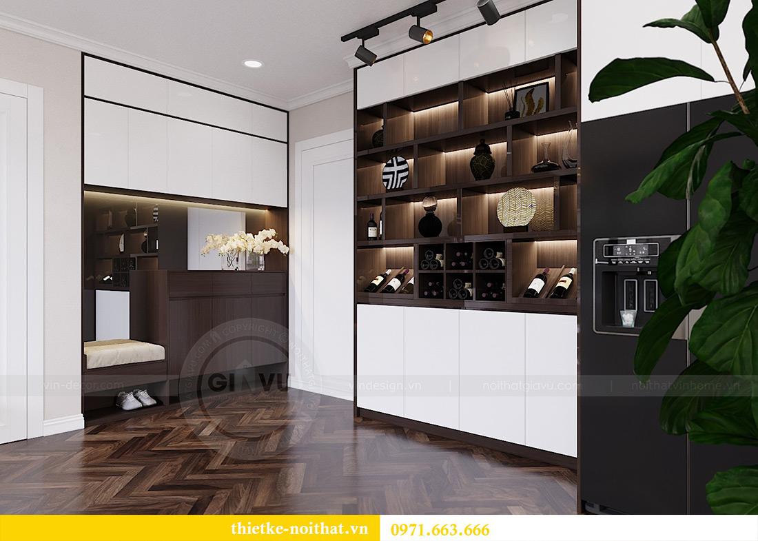 Thiết kế nội thất chung cư Vinhomes Dcapitale căn 01 tòa C6 - chị Liên 1