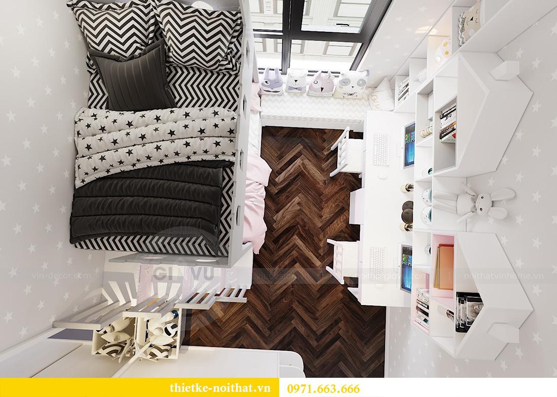 Thiết kế nội thất chung cư Vinhomes Dcapitale căn 01 tòa C6 - chị Liên 11