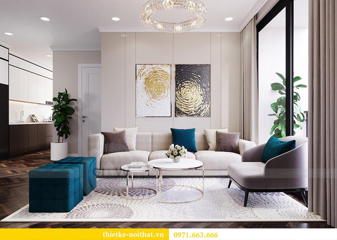 Thiết kế nội thất chung cư Vinhomes Dcapitale căn 01 tòa C6 - chị Liên 3