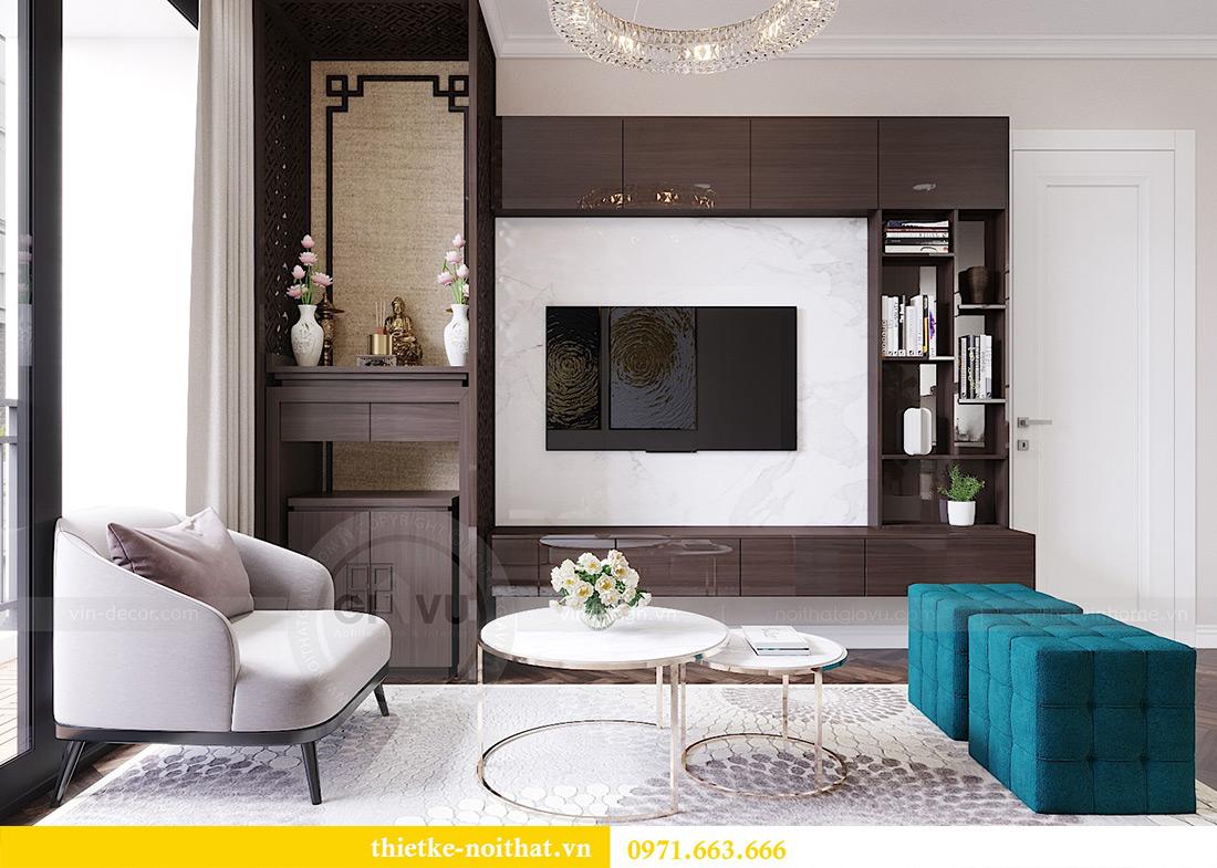 Thiết kế nội thất chung cư Vinhomes Dcapitale căn 01 tòa C6 - chị Liên 4