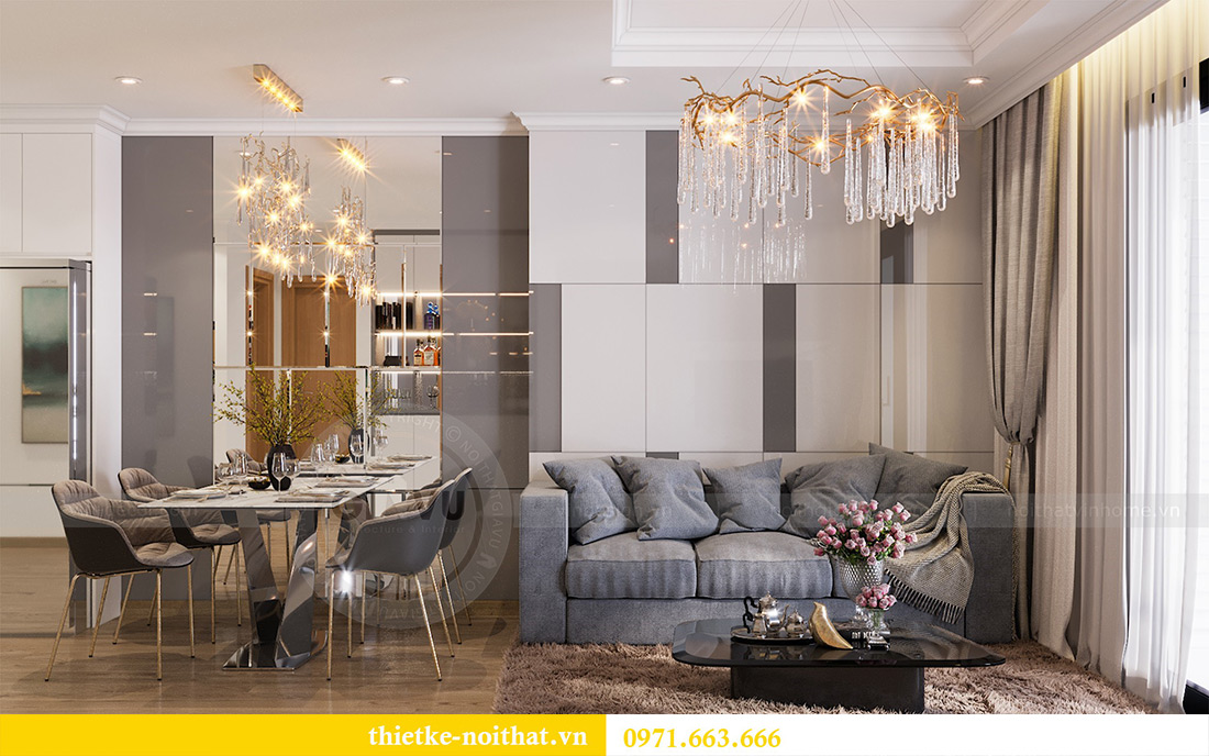 Mẫu thiết kế nội thất chung cư Sky Lake Phạm Hùng - Lh 0971663666 3