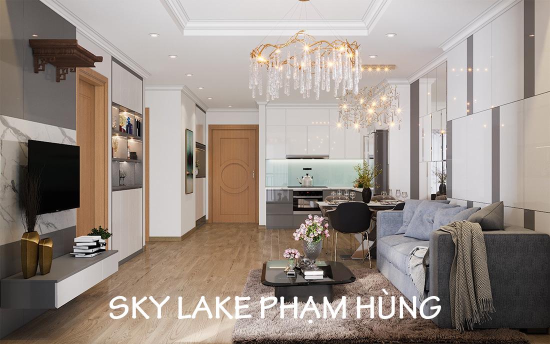 Mẫu Thiết Kế Nội Thất Chung Cư Sky Lake Phạm Hùng – Lh 0971663666