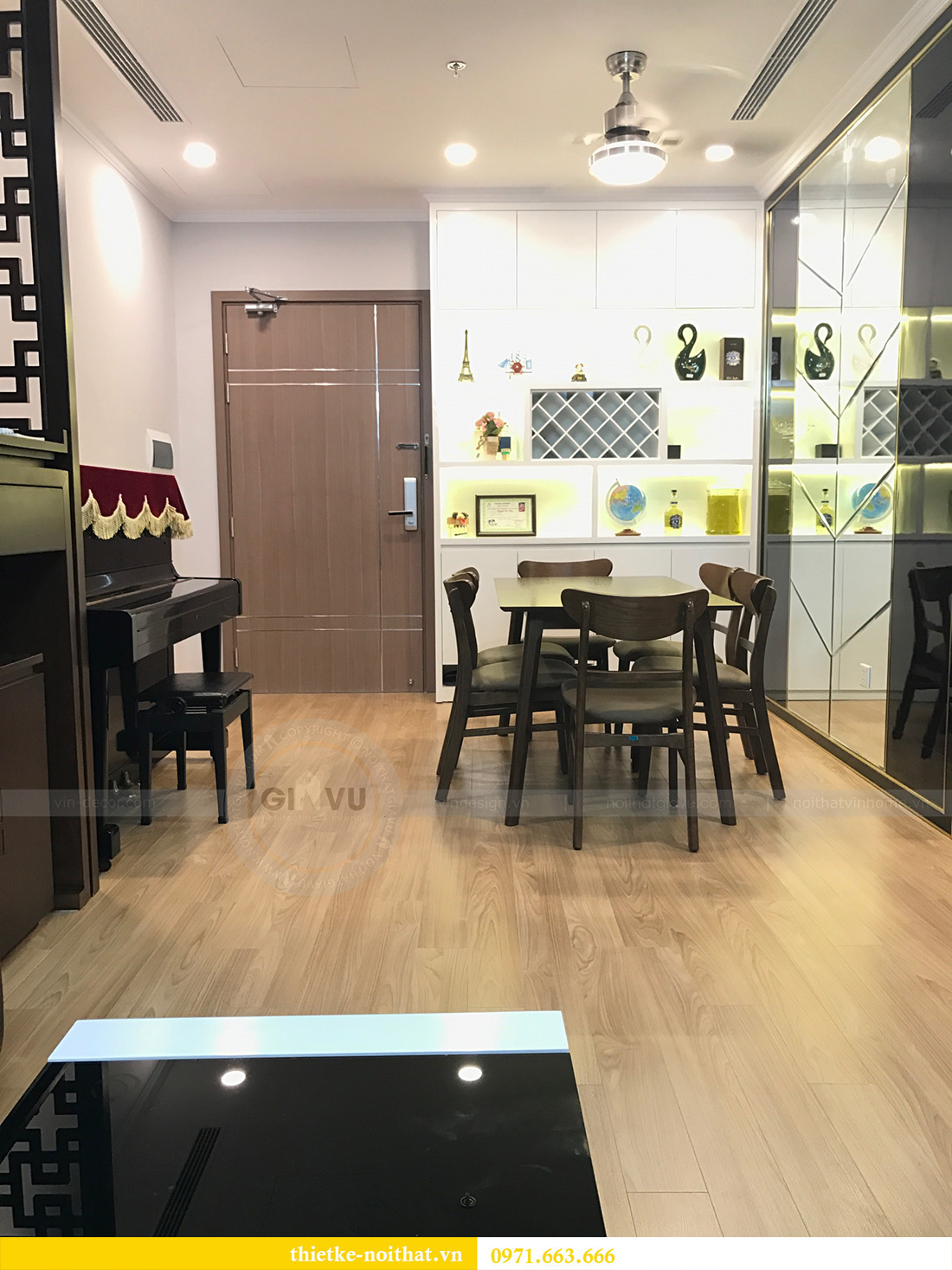 Thi công nội thất chung cư Vinhomes Gardenia tòa A1 căn 03 anh Luân 4