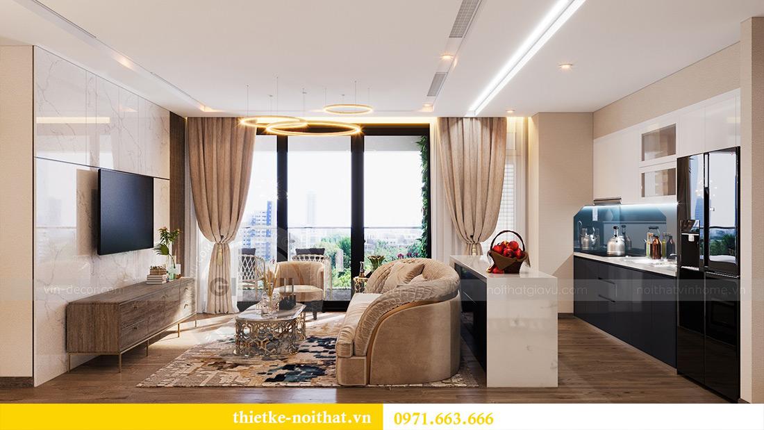 Thiết kế căn hộ 01 tòa M1 chung cư Metropolis nhà chị Trang 2
