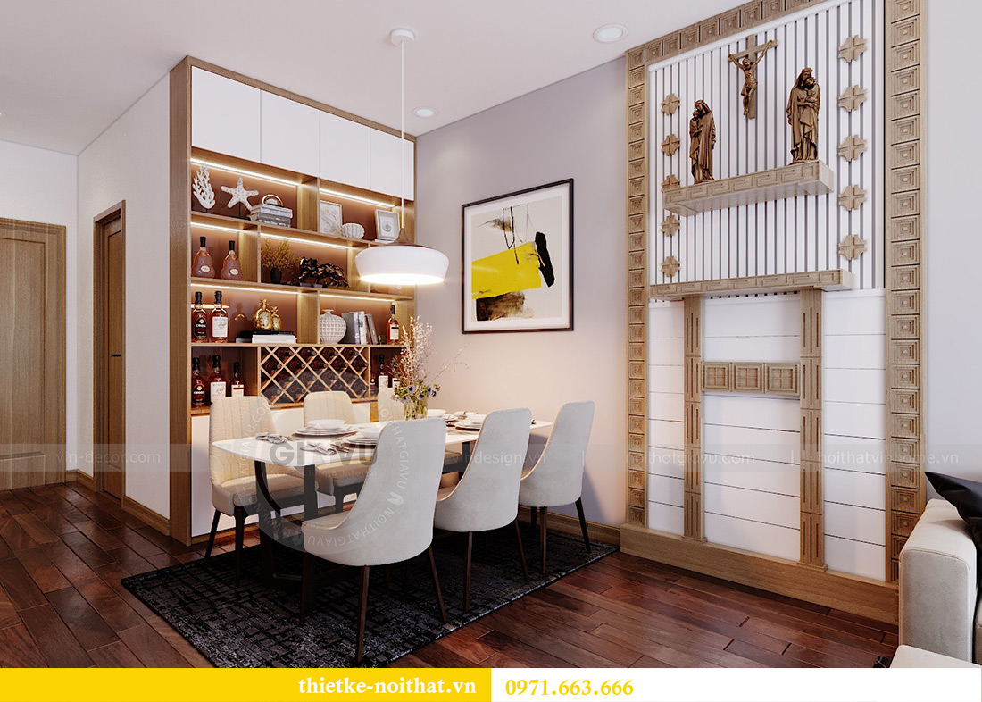 Thiết kế nội thất chung cư 789 Ngoại Giao Đoàn nhà anh Dương 3