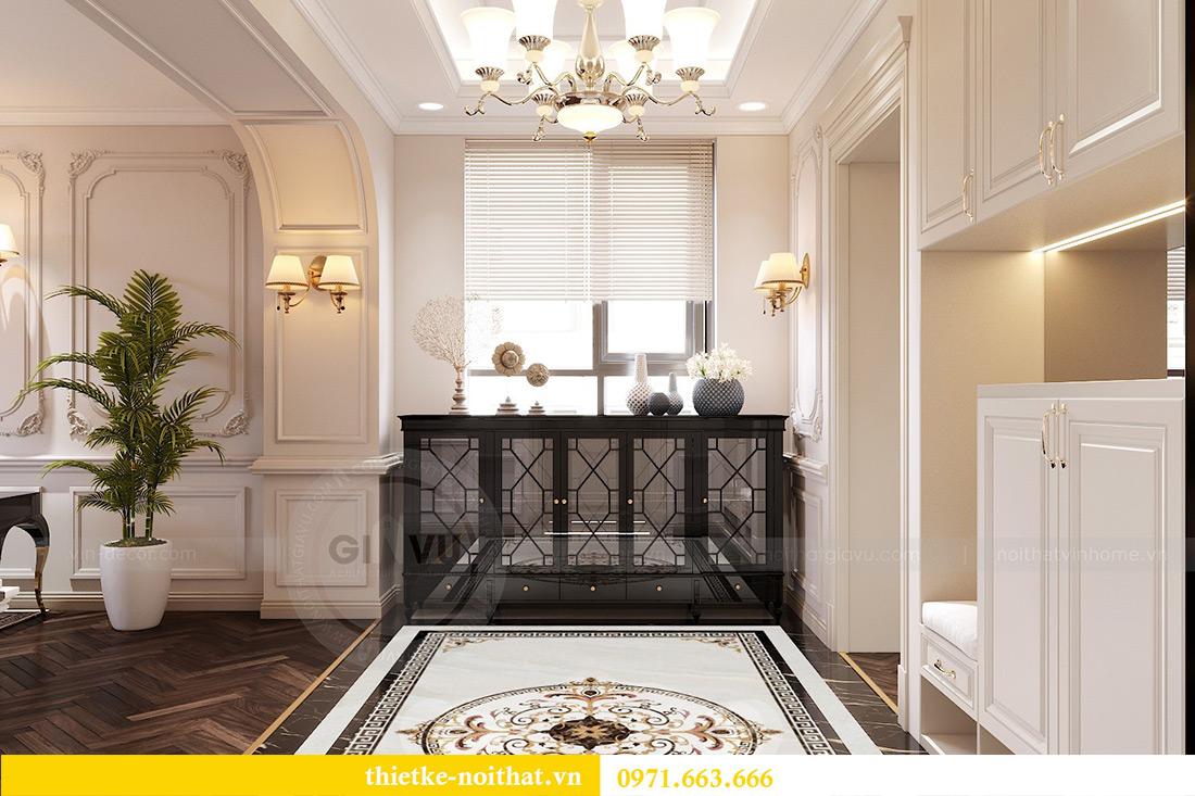 Thiết kế nội thất chung cư Green Bay tòa G1 căn 06 - 08A chị Lan 1