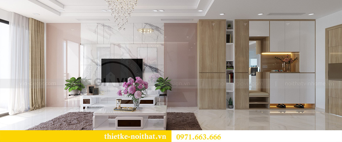 Thiết kế nội thất chung cư Mandarin Garden căn 3 ngủ nhà anh Yên 1