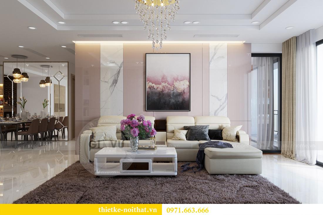 Thiết kế nội thất chung cư Mandarin Garden căn 3 ngủ nhà anh Yên 2