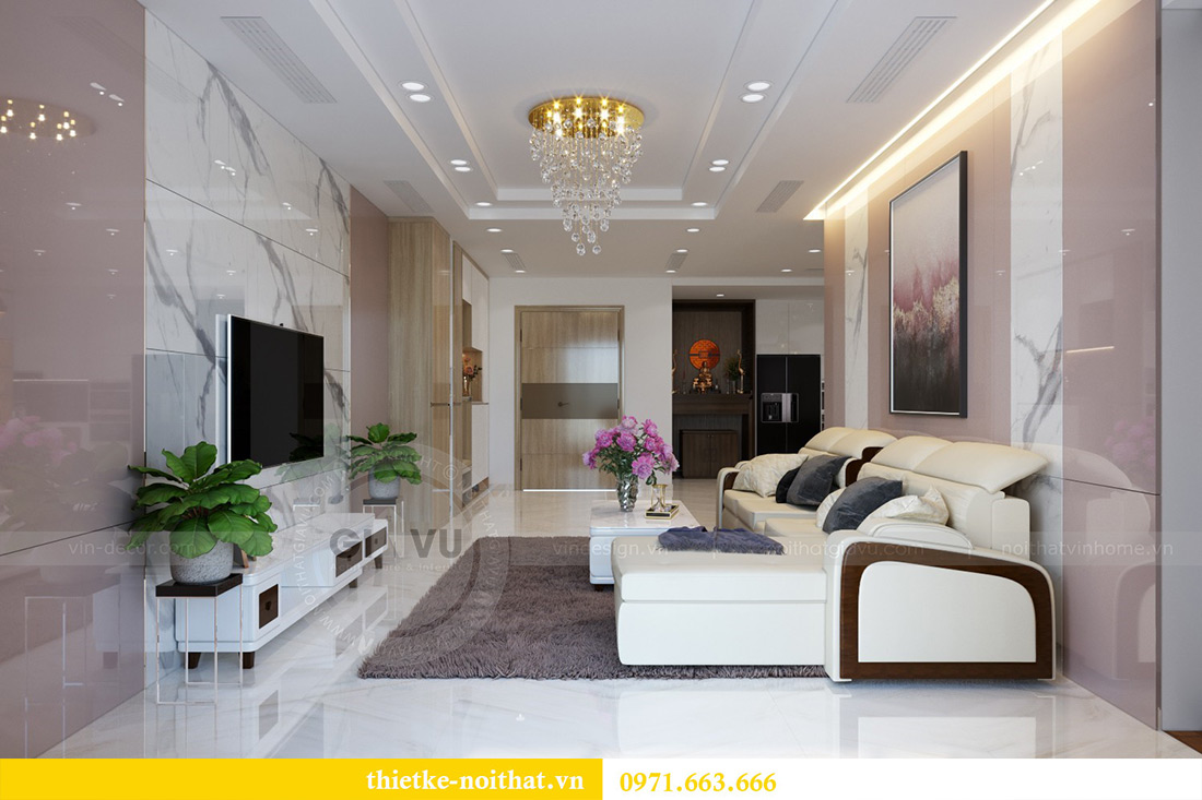 Thiết kế nội thất chung cư Mandarin Garden căn 3 ngủ nhà anh Yên 3