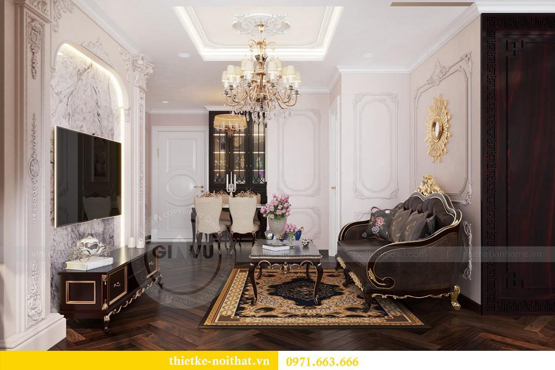 Thiết kế nội thất chung cư Vinhomes Mễ Trì căn 05 tòa G1 chị Lan 7