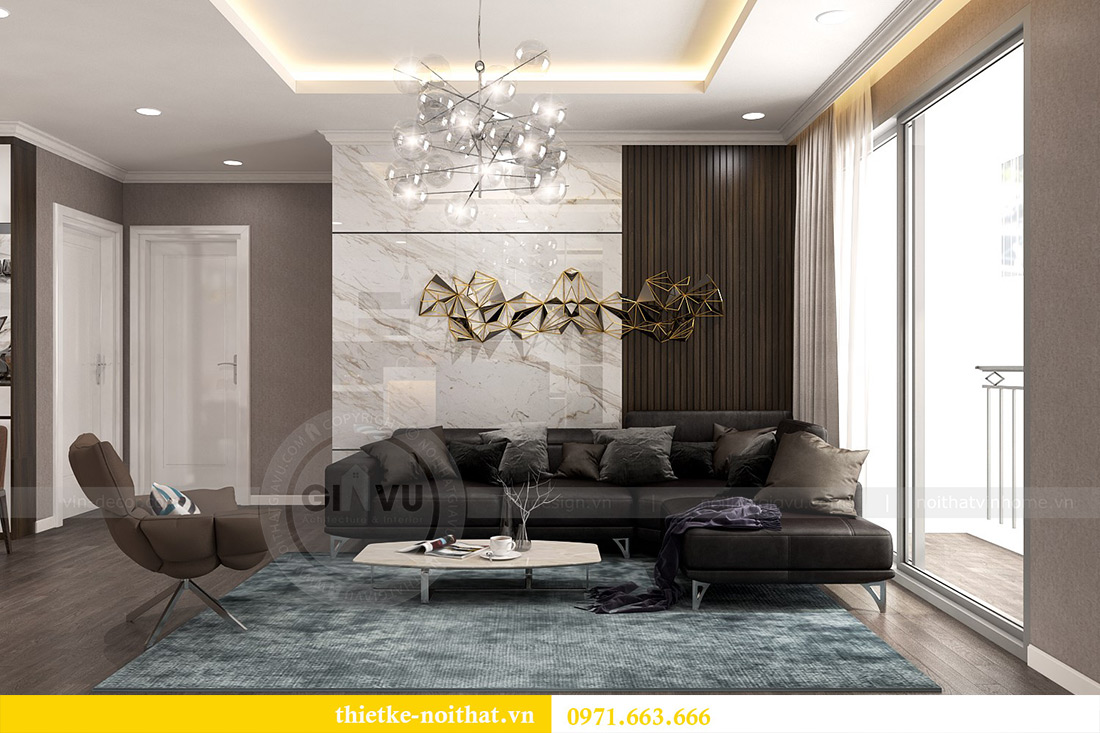 Thiết kế nội thất Vinhomes Sky Lake Phạm Hùng nhà chị Chinh 8