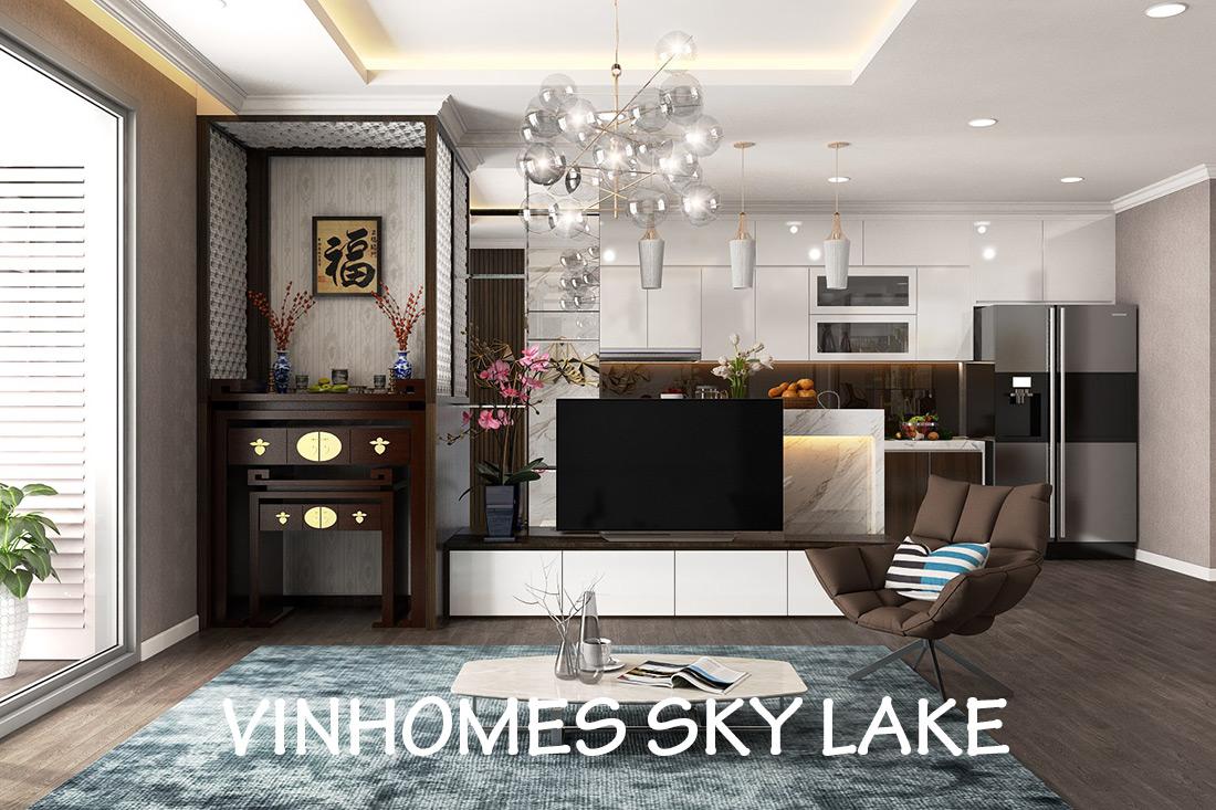 Thiết Kế Nội Thất Vinhomes Sky Lake Phạm Hùng Nhà Chị Chinh