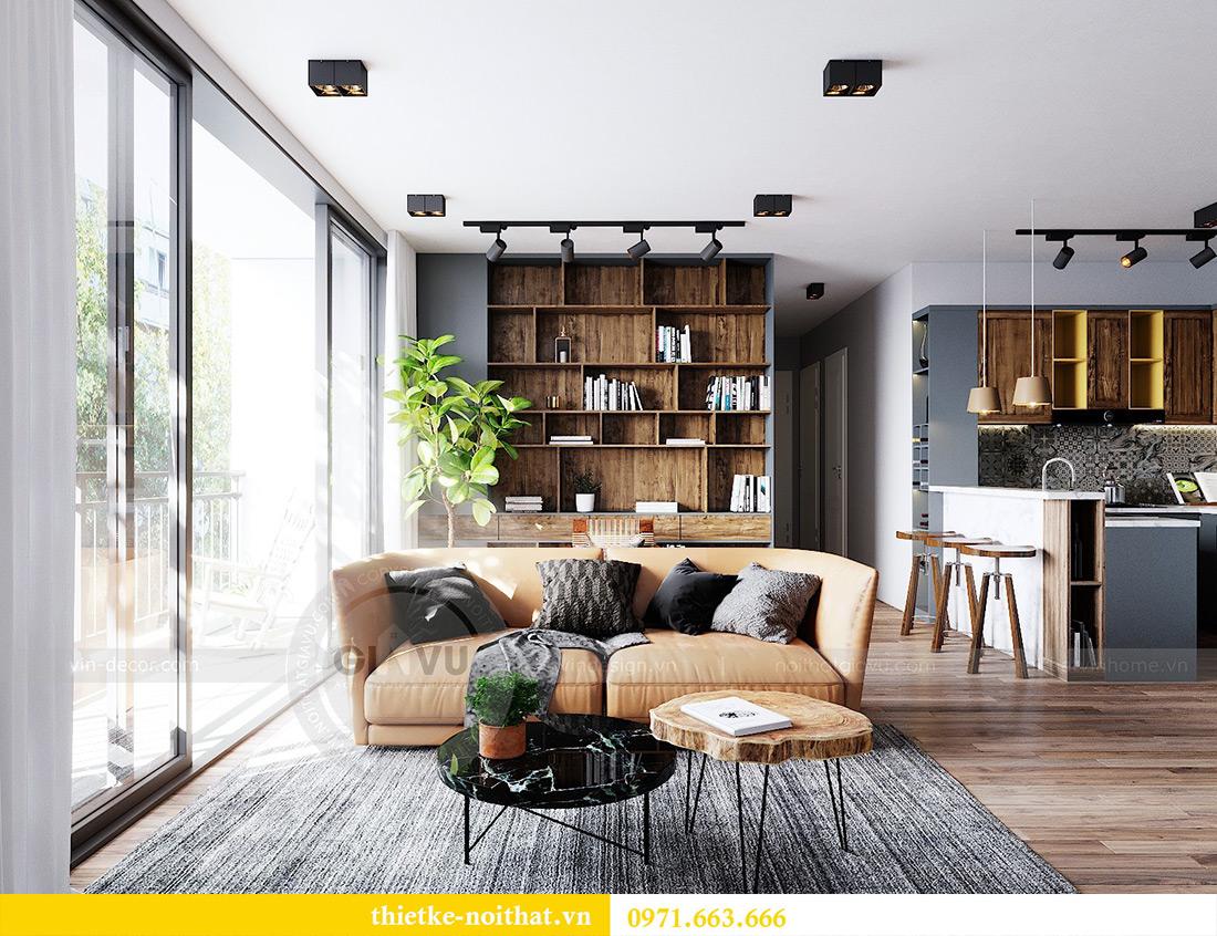 Tư vấn thiết kế và bố trí nội thất không gian phòng khách nhà chị Huyền 3