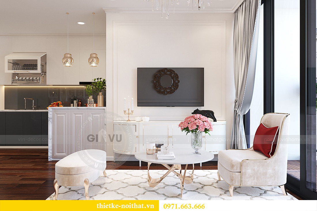 Thiết kế căn 11a tòa M1 chung cư Vinhomes Metropolis nhà chị Vân 4