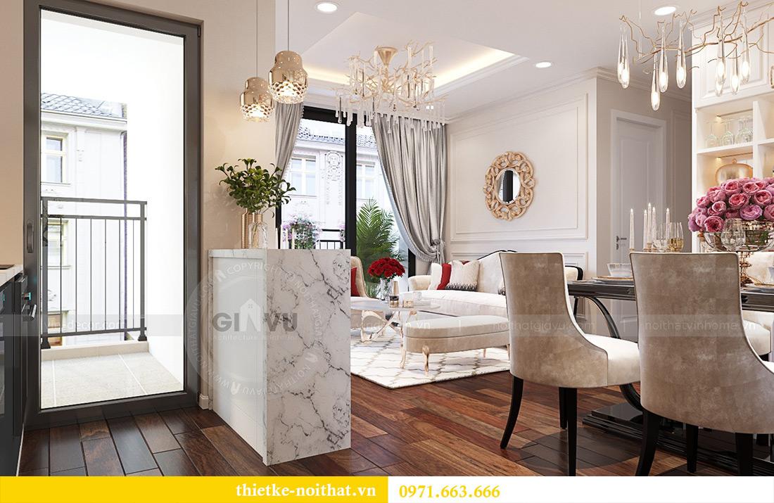 Thiết kế căn 11a tòa M1 chung cư Vinhomes Metropolis nhà chị Vân 5