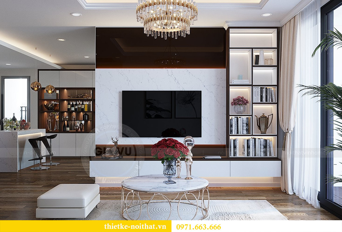 Thiết kế nội thất chung cư Gardenia tòa A2 căn 03 - anh Hưởng 7