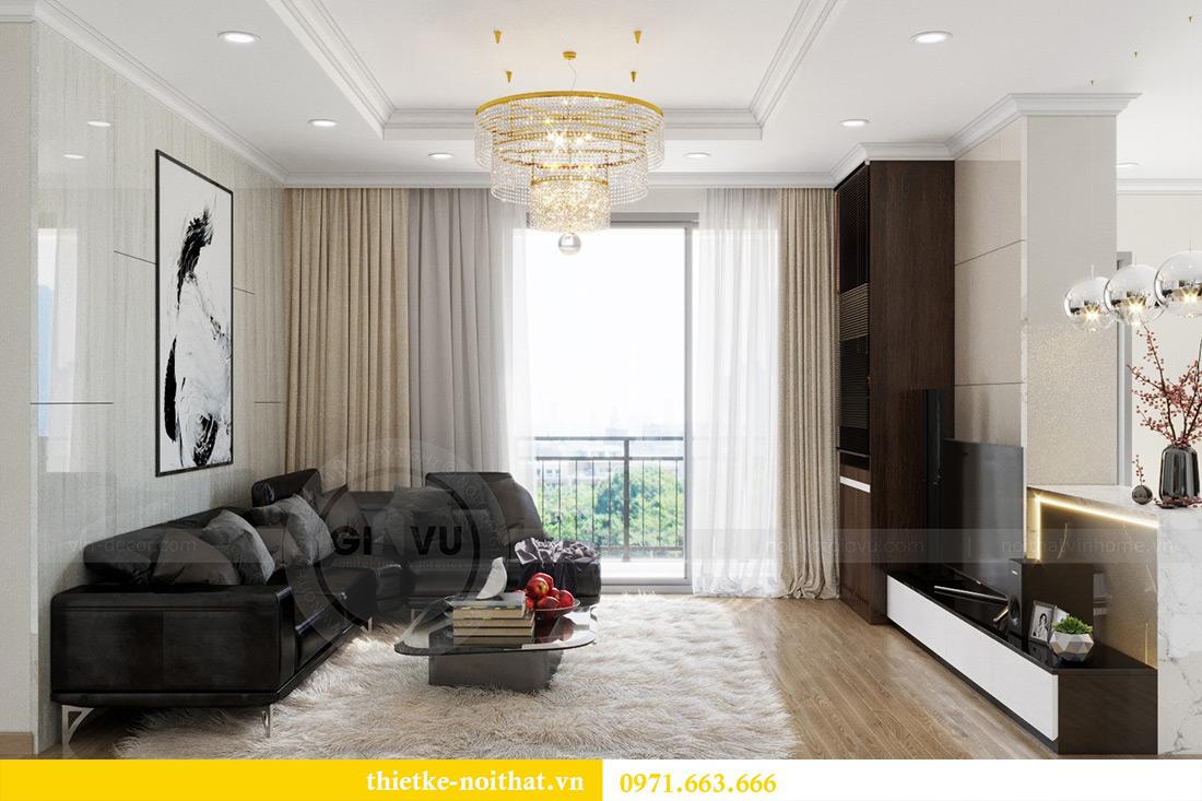 Thiết kế thi công nội thất chung cư Park Hill 12 căn 07 nhà anh Hùng 3