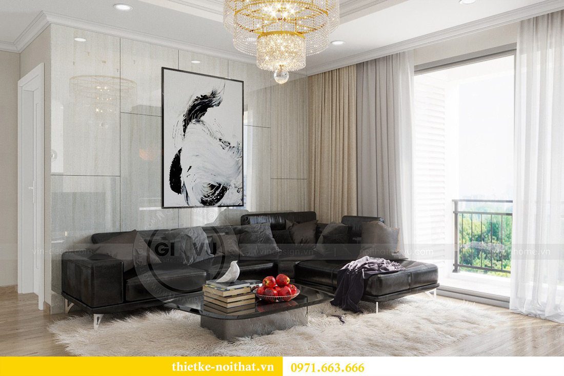 Thiết kế thi công nội thất chung cư Park Hill 12 căn 07 nhà anh Hùng 5
