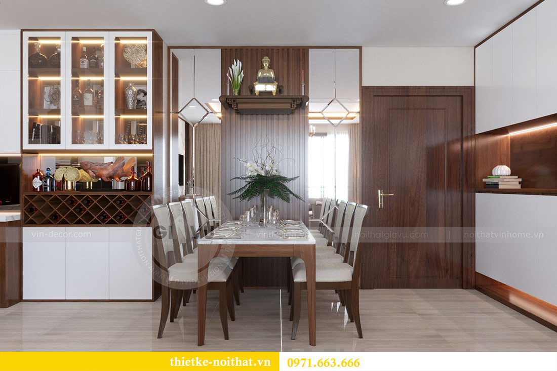 Thiết kế nội thất căn hộ Vinhomes Dcapitale tòa C3-10 chị Hằng 4
