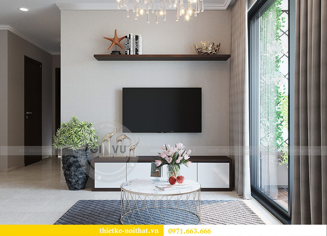 Thiết kế nội thất chung cư Dcapitale tòa C1 căn 01 - anh Nam 6