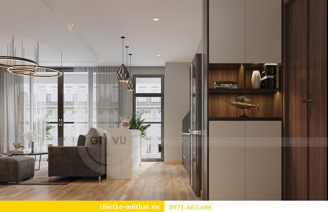 Thiết kế thi công nội thất căn hộ Metropolis tòa M3 09 - chú Hiệp 5