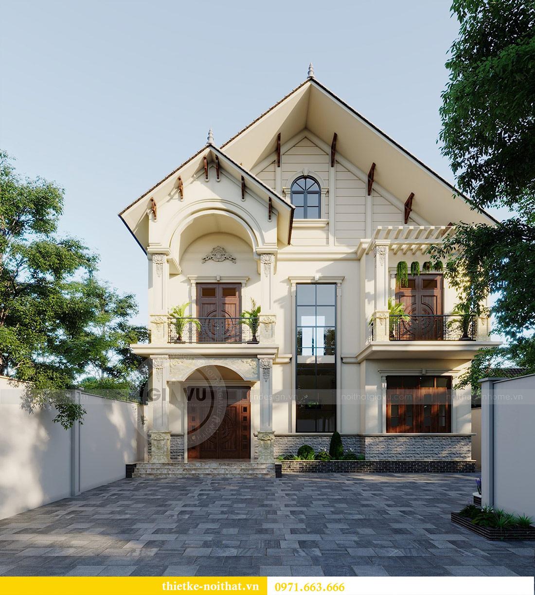 Thiết kế kiến trúc biệt thự An Dương Tây Hồ nhà chú Đức 1