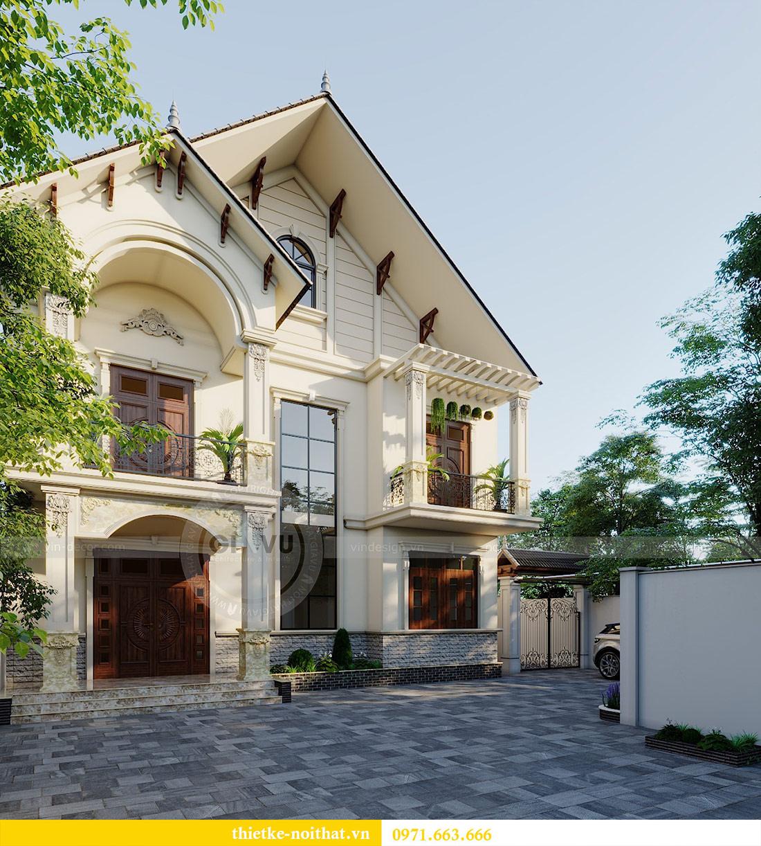 Thiết kế kiến trúc biệt thự An Dương Tây Hồ nhà chú Đức 2