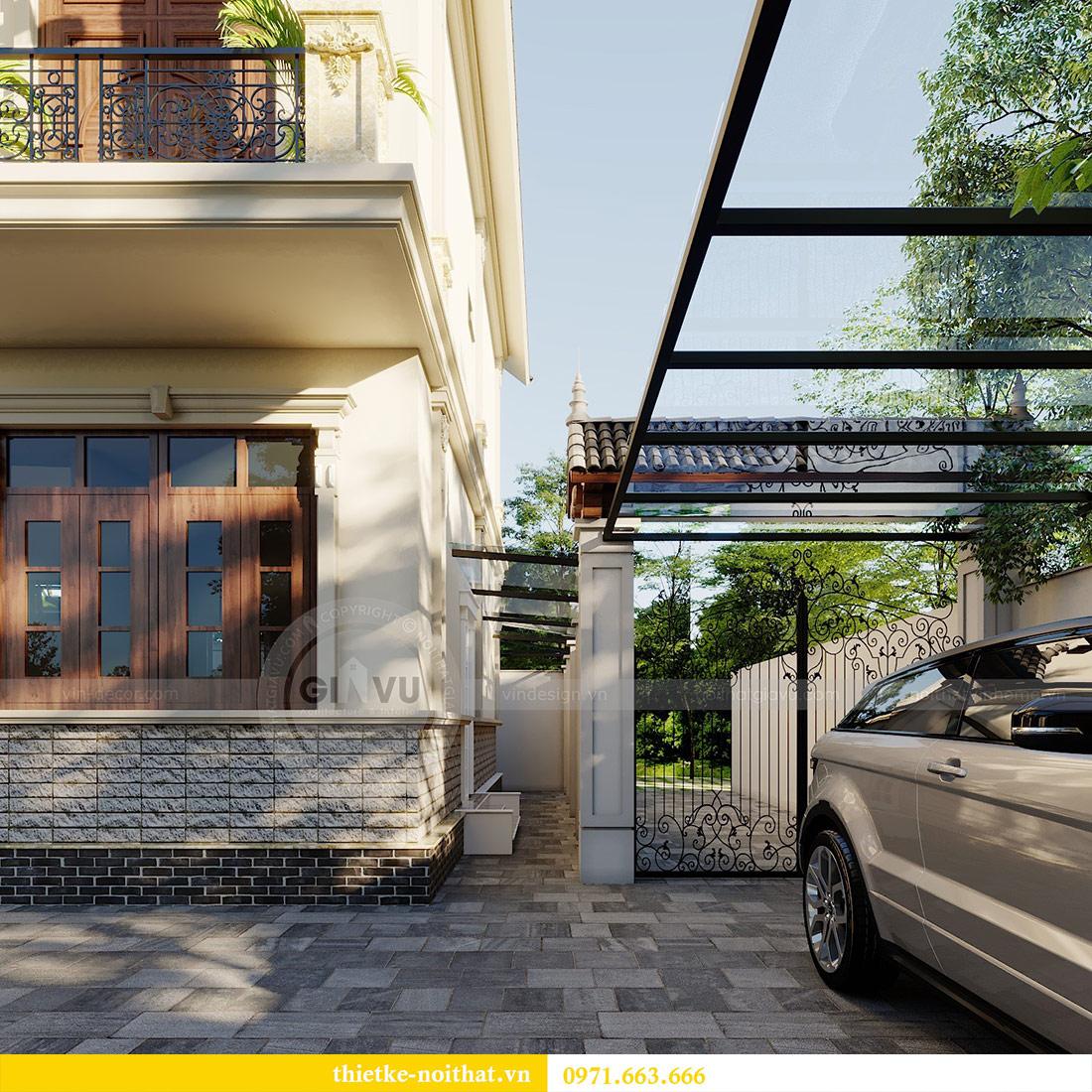 Thiết kế kiến trúc biệt thự An Dương Tây Hồ nhà chú Đức 4