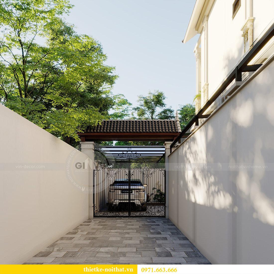 Thiết kế kiến trúc biệt thự An Dương Tây Hồ nhà chú Đức 5