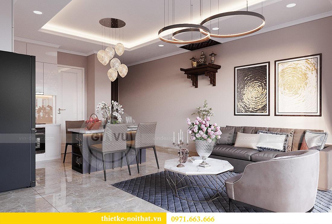 Thiết kế nội thất căn 03 tòa C1 Vinhomes Dcapitale - anh Tĩnh 3