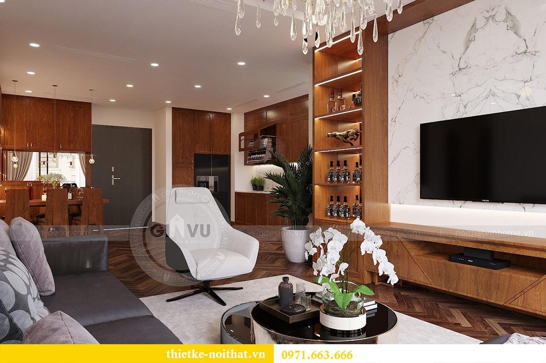 Thiết kế nội thất căn hộ Vinhomes Liễu Giai tòa M3 căn 02 - chị Thơm 1