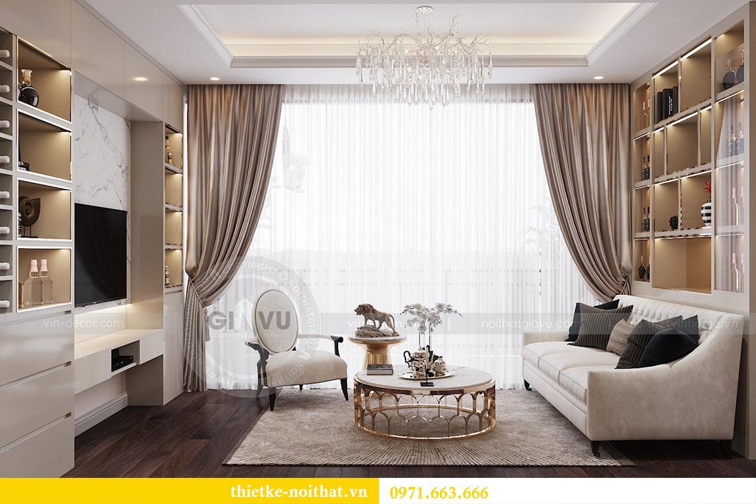 Thiết kế nội thất chung cư dcapitale tòa C1 căn 10 - chị Bun 3