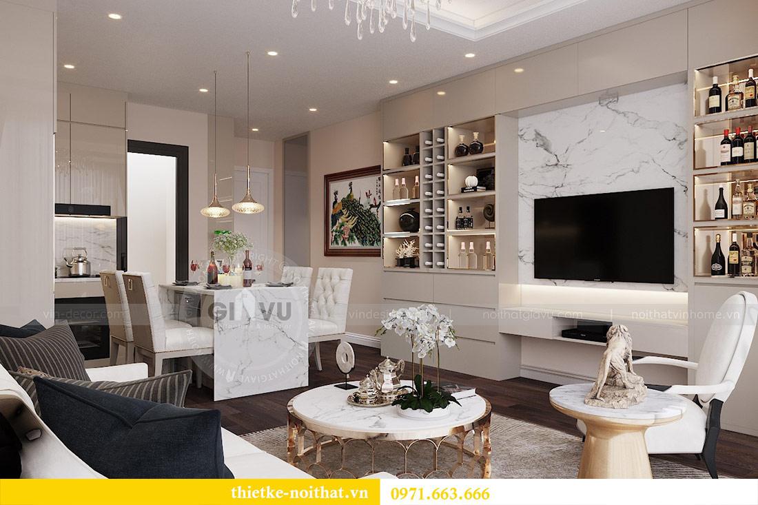 Thiết kế nội thất chung cư dcapitale tòa C1 căn 10 - chị Bun 4