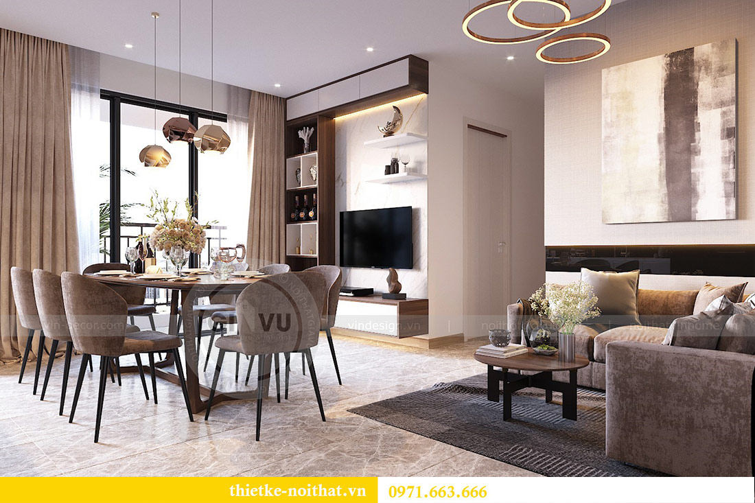 Thiết kế nội thất căn hộ 66m2 tại Vinhomes Dcapitale - chị An 4