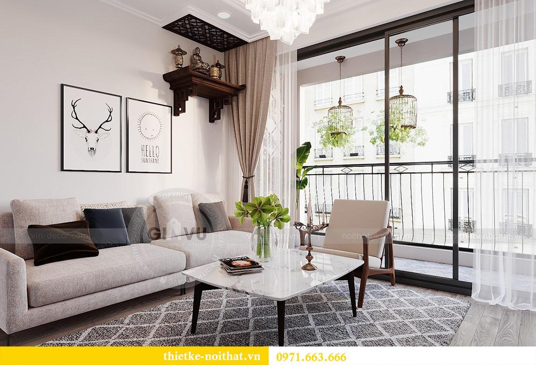 Thiết kế nội thất chung cư 2 phòng ngủ tòa C1 căn 03 - cô Lan Quế 2