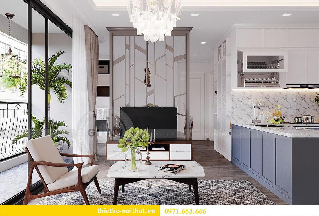 Thiết kế nội thất chung cư 2 phòng ngủ tòa C1 căn 03 - cô Lan Quế 3
