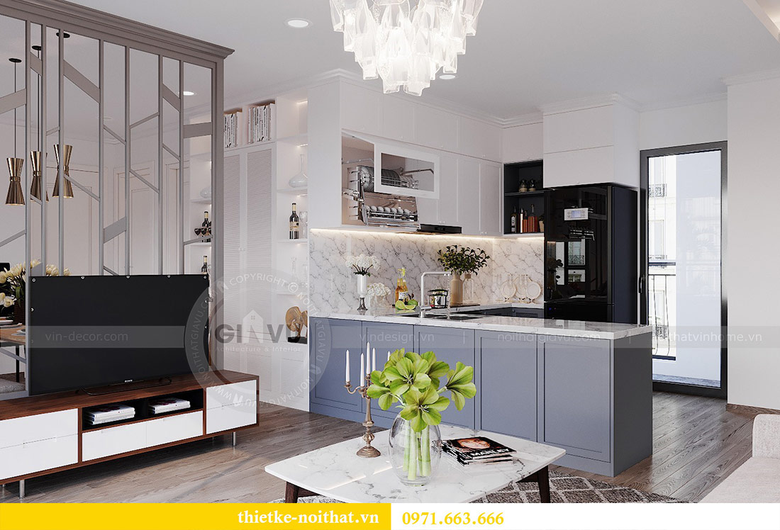 Thiết kế nội thất chung cư 2 phòng ngủ tòa C1 căn 03 - cô Lan Quế 4